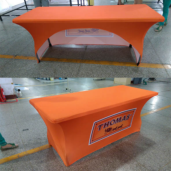 Promotional Spandex Table Covers Printing