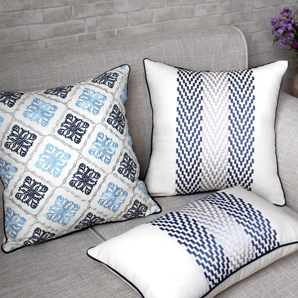 embroidery weave cushion