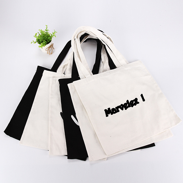 cotton tote shopping bag with dye sublimation heat transfer print